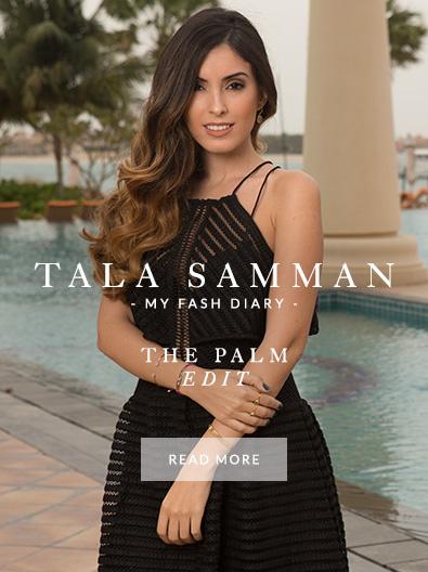 Tala Samman wearing Monica Vinader at The Palm