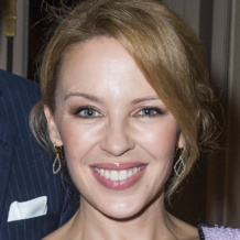 Kylie Minogue wears Monica Vinader Riva Diamond Hoop Earrings at the APREC Benefit Auction Dinner in Paris, 2013.