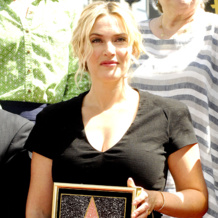 Kate Winslet Wearing Diamond Fiji Freidnship Bracelet Walk of Fame Hollywood