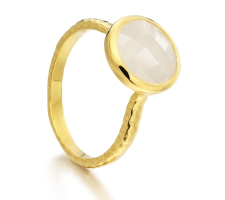 Gp Mini Luna Ring - Moonstone - Monica Vinader
