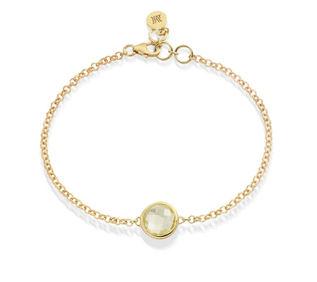 GP Mini Luna Bracelet - Green Gold Quartz - Monica Vinader