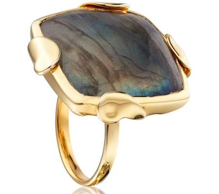 GP Lace Square Ring - Labradorite - Monica Vinader