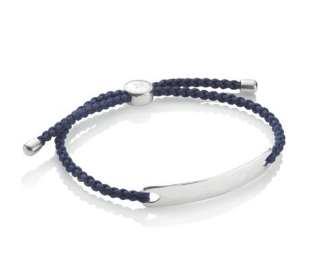 Monica Vinader Havana Men's Friendship Bracelet - Denim Blue