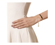 Gold Vermeil Baja Chain Bracelet - Black Onyx - Monica Vinader