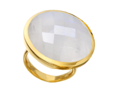 Gp Round Facet Ring - Moonstone - Monica Vinader
