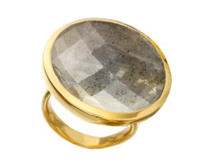 Gp Round Facet Ring - Labradorite - Monica Vinader