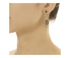RP Siren Small Cocktail Earrings - Labradorite  - Monica Vinader