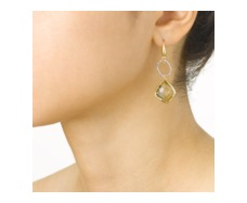 GP Riva Diamond & Lemon Quartz Cocktail Earrings - Monica Vinader