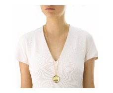 Gold Vermeil Riva Extra Large Plain Pendant - Monica Vinader