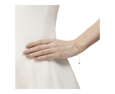 Gold Vermeil Skinny Short Bar Bracelet - Diamond - Monica Vinader