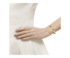 GP Siren Thin Cuff - Green Onyx - Monica Vinader