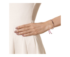 Rose Gold Vermeil Fiji Friendship Bracelet- Cerise- Love - Monica Vinader