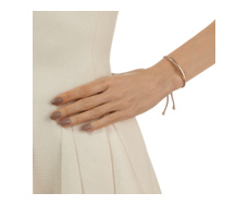 Rose Gold Vermeil Esencia Friendship Bracelet - White Topaz - Rose Metallica - Monica Vinader