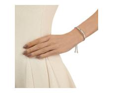 Esencia Scatter Friendship Bracelet - White Topaz - Silver Metallica - Monica Vinader