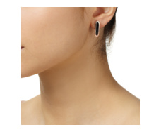Rose Gold Vermeil Baja Earrings - Black Onyx - Monica Vinader