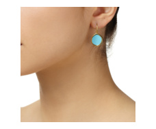 Gold Vermeil Atlantis Gem Earrings - Turquoise - Monica Vinader