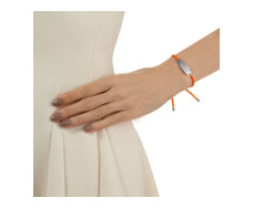 Bali Friendship Bracelet - Orange Fluoro - Monica Vinader
