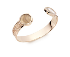 Rose Gold Vermeil Atlantis Cuff - Grey Agate - Monica Vinader