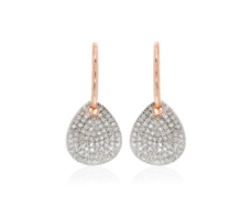 Rose Gold Vermeil Alma Drop Earrings - Diamond