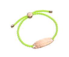Rose Gold Vermeil Bali Friendship Bracelet - Yellow Fluoro - Monica Vinader