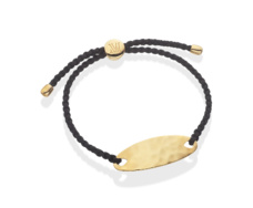 Gold Vermeil Bali Friendship Bracelet - Black - Monica Vinader