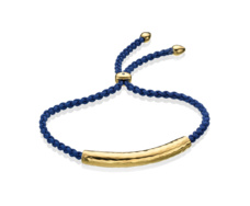 Gold Vermeil Esencia Friendship Bracelet - Iolite - Royal Blue - Monica Vinader