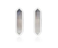 Baja Earrings - Grey Agate - Monica Vinader