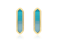 Gold Vermeil Baja Earrings - Turquoise - Monica Vinader