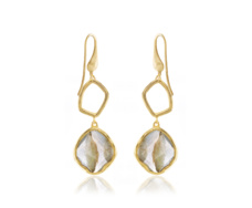 Gold Vermeil Riva Diamond & Labradorite Cocktail Earrings - Monica Vinader