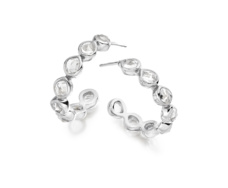 Siren Gem Hoop Earring Small - Rock Crystal - Monica Vinader
