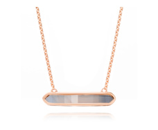 Rose Gold Vermeil Baja Necklace - Grey Agate - Monica Vinader