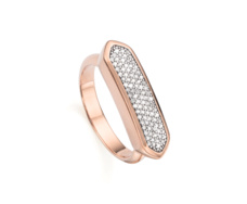 Rose Gold Vermeil Baja Ring - Monica Vinader