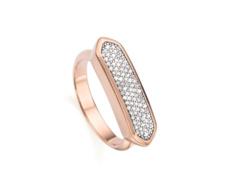 Rose Gold Vermeil  Baja Ring - Diamond - Monica Vinader