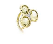Gold Vermeil Riva Diamond Cluster Ring - Monica Vinader
