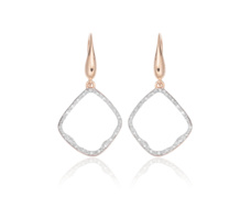Rose Gold Vermeil Riva Diamond Hoop Earrings - Monica Vinader
