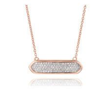 Rose Gold VermeilBaja Mini Necklace - Diamond - Monica Vinader