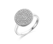 Ava Diamond Disc Pave Ring - Monica Vinader