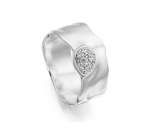 Siren Diamond Wide Band Ring - Monica Vinader