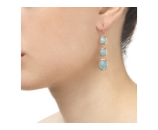 Rose Gold Vermeil Siren Wire Cocktail Earrings - Aquamarine - Monica Vinader