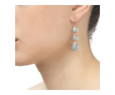 Rose Gold Vermeil Siren Wire Cocktail Earrings - Aquamarine - Monica Vinader