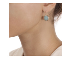Rose Gold Vermeil Siren Wire Earrings - Aquamarine - Monica Vinader