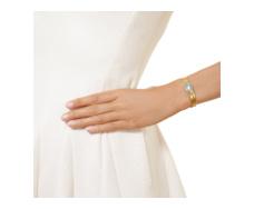 Gold Vermeil Capri Thin Cuff  - Aquamarine - Monica Vinader