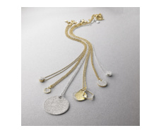 Gold Vermeil Riva Diamond Shore Pendant - Monica Vinader