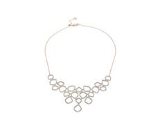 Rose Gold Vermeil Riva Diamond Cluster Bib - Monica Vinader