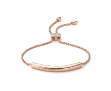 Rose Gold Esencia Diamond Toggle Bracelet  - Monica Vinader