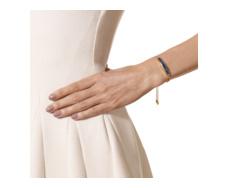 Gold Vermeil Baja Chain Bracelet - Lapis - Monica Vinader