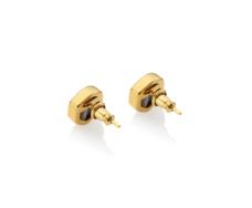 Gold Vermeil Atlantis Gem Mini Stud Earrings - Line Onyx - Monica Vinader