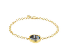 Gold Vermeil Atlantis Gem Bracelet - Line Onyx