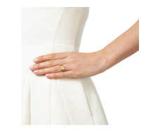 Gold Vermeil Diva Circle Open Ring - Diamond