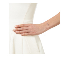 Rose Gold Mini Siren Fine Chain Bracelet - Rose Quartz